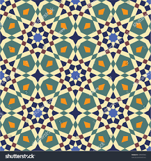 seamless pattern moroccan style mosaic tile stock vector 34508266