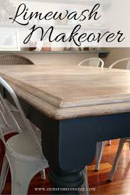 limewashed table makeover paint furniture chalk paint and room