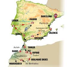 Spain And Portugal Map by Spain Morocco And Portugal Europamundo Vacations