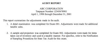 template for audit report auditing fundamentals