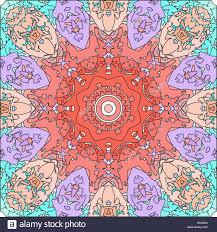 abstract mandala floral ornamental border round pattern