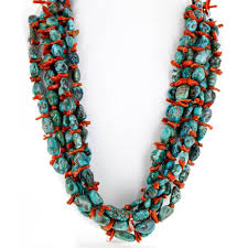 natural turquoise necklace images Collectable large and heavy 2300 retail tag 5 strand handmade jpg