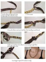 bow necklace diy images How to make handmade necklace step by step scrapcycle info jpg