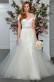 stylish wedding dresses most the shoulder a line wedding gown ideas