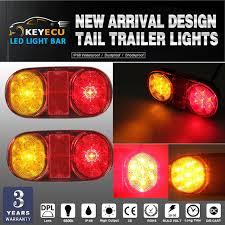 submersible led boat trailer lights keyecu pair 14 led tail trailer lights for truck boat ute
