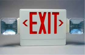 exit emergency light combo technical consumer products inc tcp red led exit sign emergency