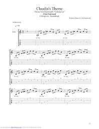 unforgiven theme song claudias theme guitar pro tab by unforgiven musicnoteslib com