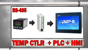 rs485 conection to a temperature controller plc and hmi youtube