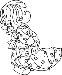 precious moments coloring pages feeding teddy bear coloringstar