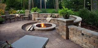 Firepit Pavers Bamboo Landscapes Pits Pavers Landscaping With