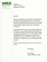 Thank You Letter Catering Client testimonial letters the executive producer