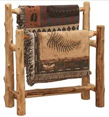 cedar log double quilt rack cabin decor pinterest logs log