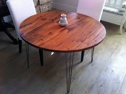 Industrial Bistro Table Dining Table With Hairpin Legs Modern Industrial Round Dining