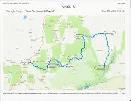 Cedar City Utah Map by Itinerary U0026 Maps Teen Trekker Tucker Cullen