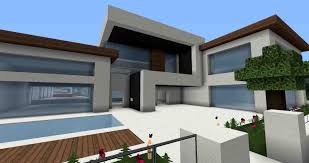 simple modern house in minecraft pe