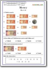 olympiad money math questions class 1 money practice worksheets
