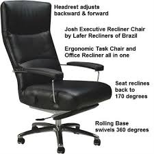 recliner chair josh executive leather office chair recliner lafer josh