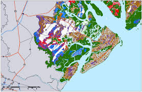 map of beaufort county sc sea level rise planning maps likelihood of shore protection in