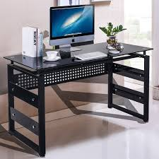 Stylish Computer Desks Office Stylish Black Textured Computer Desk Large Keyboard Pull