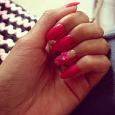 natural oval gel nail with 3d bow thanks annie yelp
