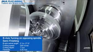 multus b550 turbine disk b axis turning