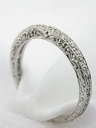 vintage wedding bands for vintage style wedding ring with filigree rg 2807at beautiful