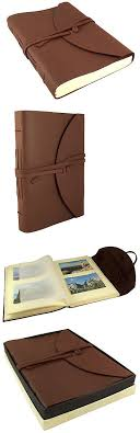 large leather photo albums albums and refills 33875 large leather photo album scrapbook