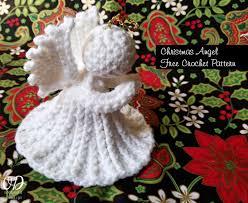 crocheted christmas christmas angel free crochet pattern oombawka design crochet