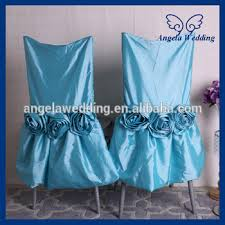 Used Wedding Chair Covers Ch030a Sale Fancy Wedding Ruffled Taffeta Turquoise Blue Chair