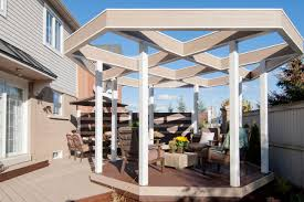 Pergola Deck Designs by Ideas For Covering A Deck Diy