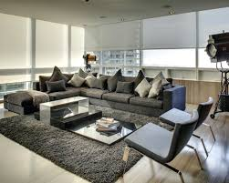 Sectional Gray Sofa Appealing Gray Sofa With Sectional Houzz In Grey Living Room