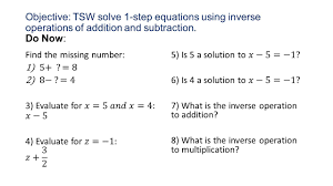 Inverse Operation Worksheets Do Now Write A Definition In Your Own Words Of These Math Terms 1