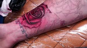 realistic rose tattoo youtube