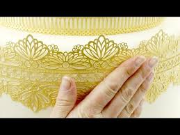 Lace Cake Decorating Techniques How To Make Cake Lace Using Three Different Techniques Youtube