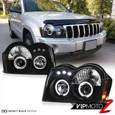 jeep grand cherokee blackout led light bar kit grand cherokee 05 07 srt8 black halo projector