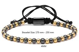 woven bracelet with beads images Titanium steel round beads macrame braided bracelet sky bracelets jpg