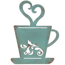 Turquoise Metal Coffee Cup Wall Decor Hobby Lobby