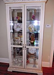 curio cabinet jasper lighted hand painted curioinet glass