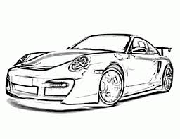 porsche 911 turbo ta gt street 2007 car coloring pages printable