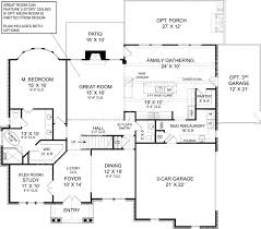 House Plans With Butlers Pantry Tillman Falls Traditional Floor Plan European House Plan