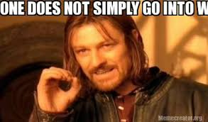New Years Eve Meme - meme creator one does not simply go into wrap on new years eve