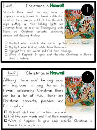 reading comprehension passages christmas around the world sea of