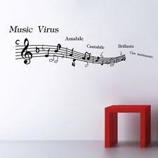 Music Note Decor Music Note Pattern Graffiti Wall Home Decor Mural Decal Removable