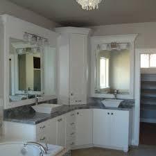 white bathroom double sinks double vanity corner vanity white