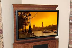 C Corner TV Stand With Back Wall Easily Mount TV To Furniture - Corner cabinets for plasma tv