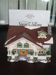 amazon com retired dept 56 snow village craftsman cottage