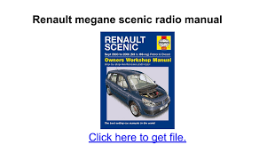 renault megane scenic radio manual google docs