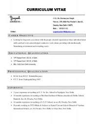 Download Sample Of Resume by Examples Of Resumes Simple Sample Resume Format Free Download