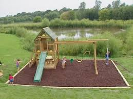 How To Build A Backyard Swing Exterior A Playground With Sand As The Ground Cover Backyard