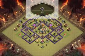 layout design th7 coc strategy th7 war base farming attacking free tips guide clash